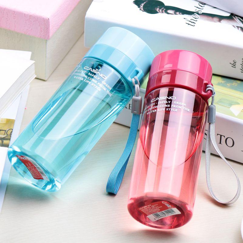 卡西諾水杯塑料便攜小學生迷你太空杯隨手杯女創意運動水壺茶杯子