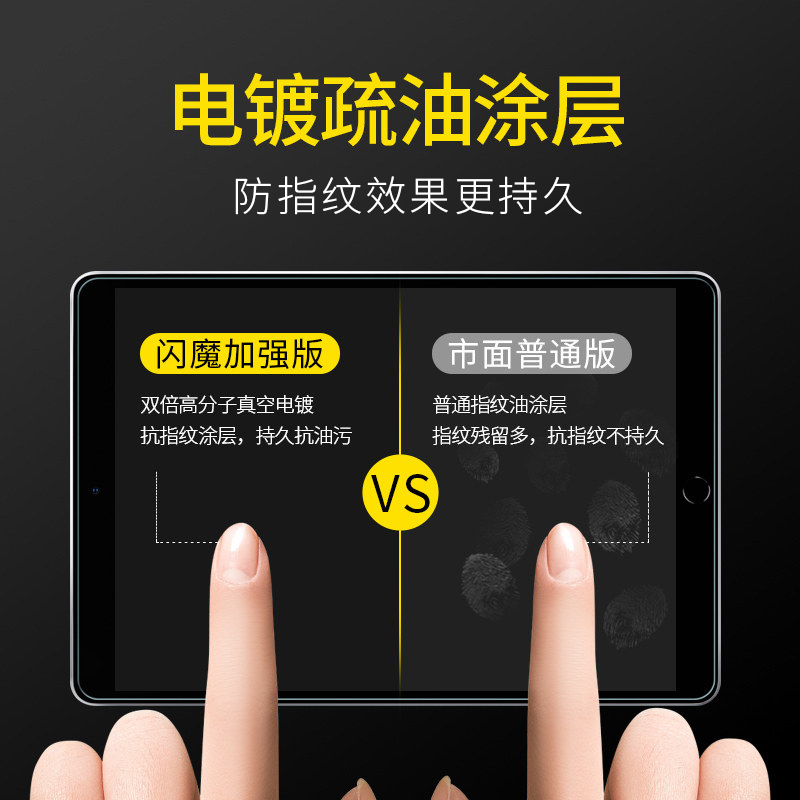 闪魔ipad2021钢化膜air3/2新款2020平板10.2寸mini5/4苹果9.7pro10.5蓝光2019保护11/12.9电脑6全屏2018贴膜8 No.2