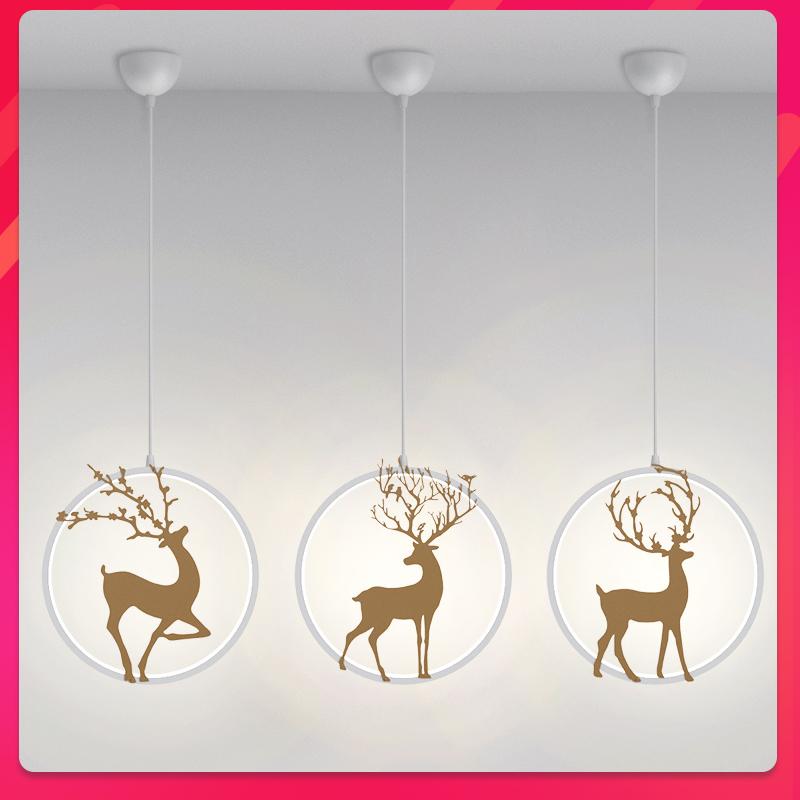 北欧小吊灯创意个姓床头卧室现代简约小鹿走廊过道阳台吧台餐厅灯