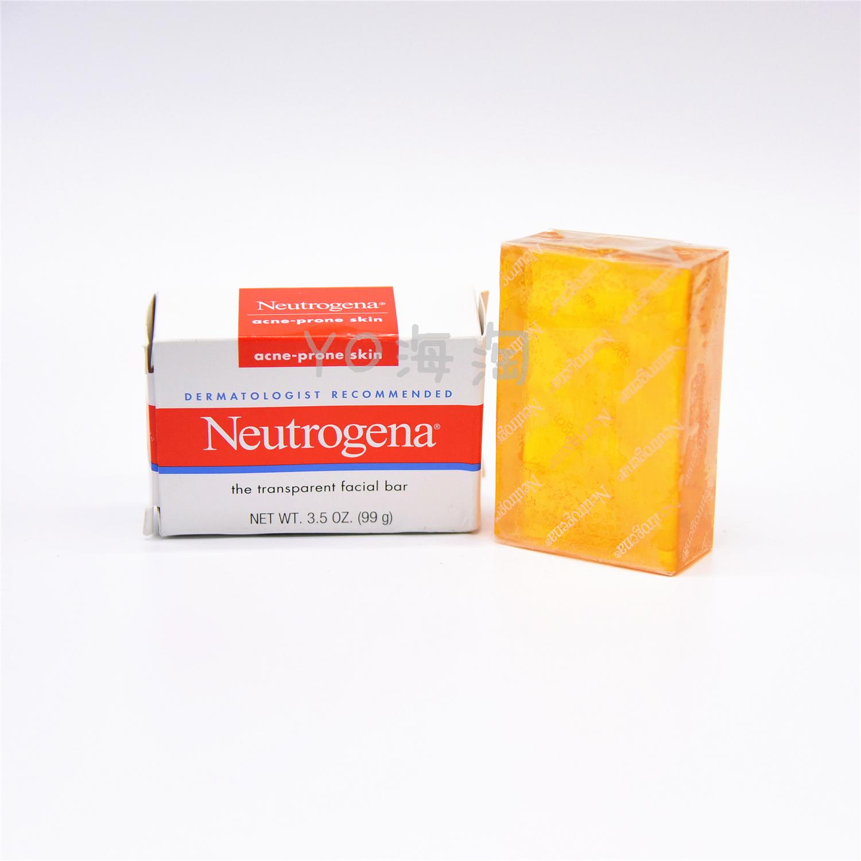 現貨美國Neutrogena/露得清清瀅暗瘡潔面皂 100g 控油祛痘肥皂