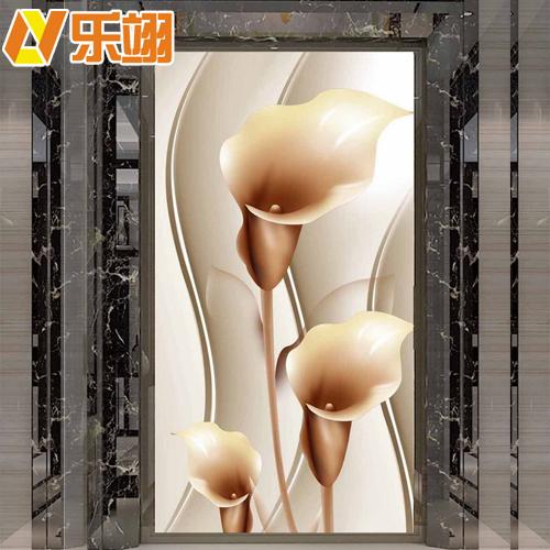 玄关背景墙瓷砖画 3D立体过道壁画 现代仿玉石背景墙砖 餐厅背景