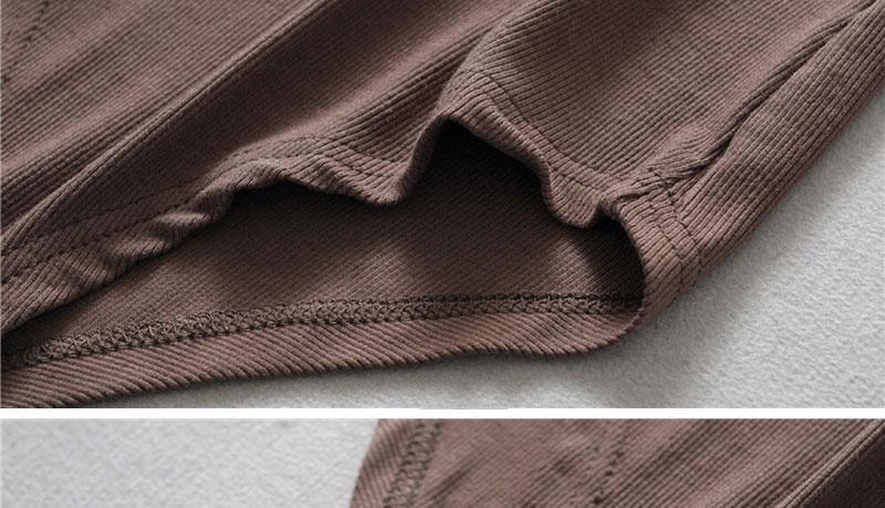 欧美显瘦圆领连体衣夏天短袖T恤女弹力紧身上衣螺纹体恤打底衫主图