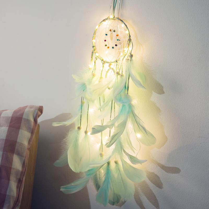 捕梦网diy灯串ins装饰少女心房间布置卧室挂饰浪漫彩灯生日礼物