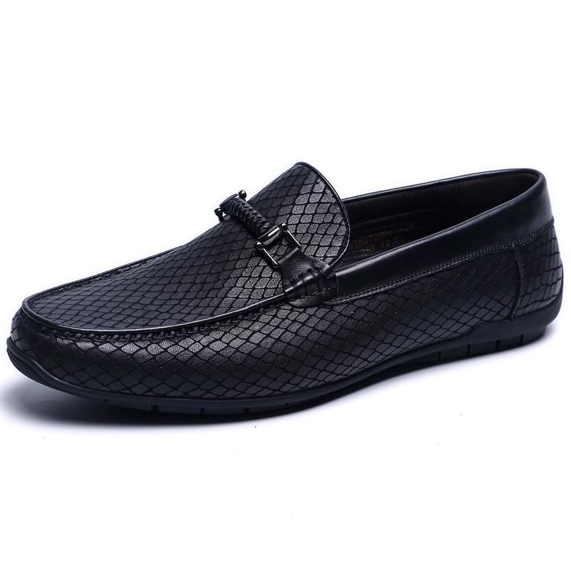 金利来男鞋秋季新款专柜正品鞋高档真皮套脚商务休闲皮鞋男驾车鞋