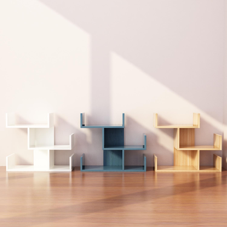 简易桌上小书架儿童桌面置物架学生家用书柜简约办公收纳柜省空间