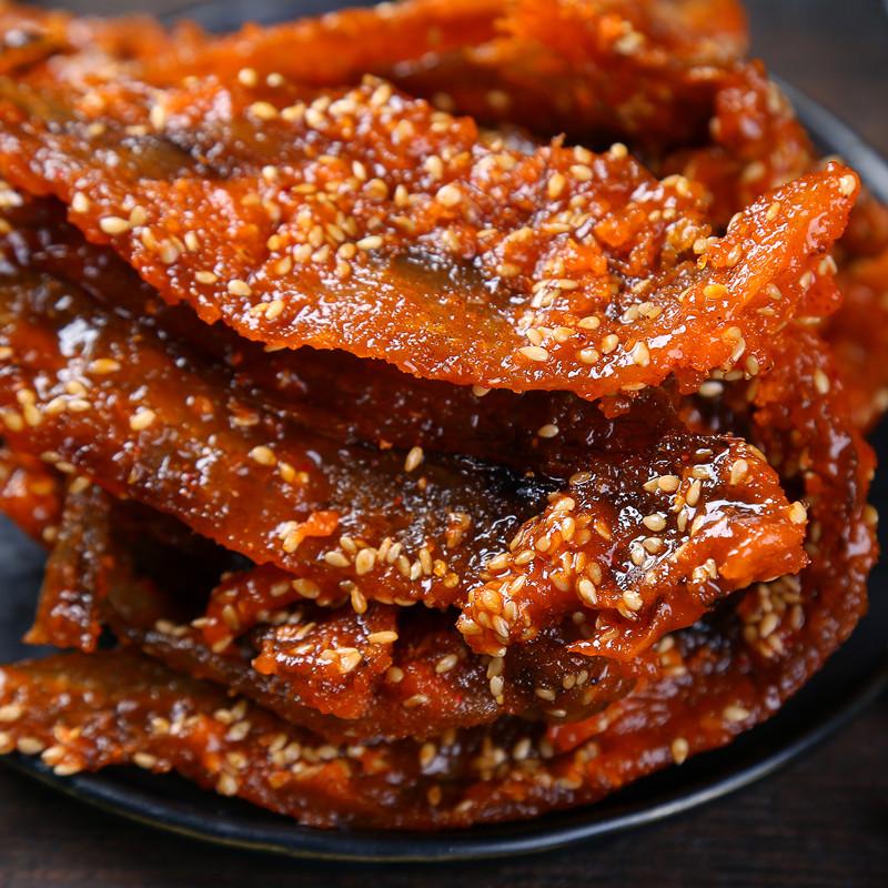 包邮袋装广西特产即食零食特产 500g 甜辣龙头鱼干蜜汁麻辣香辣鱼