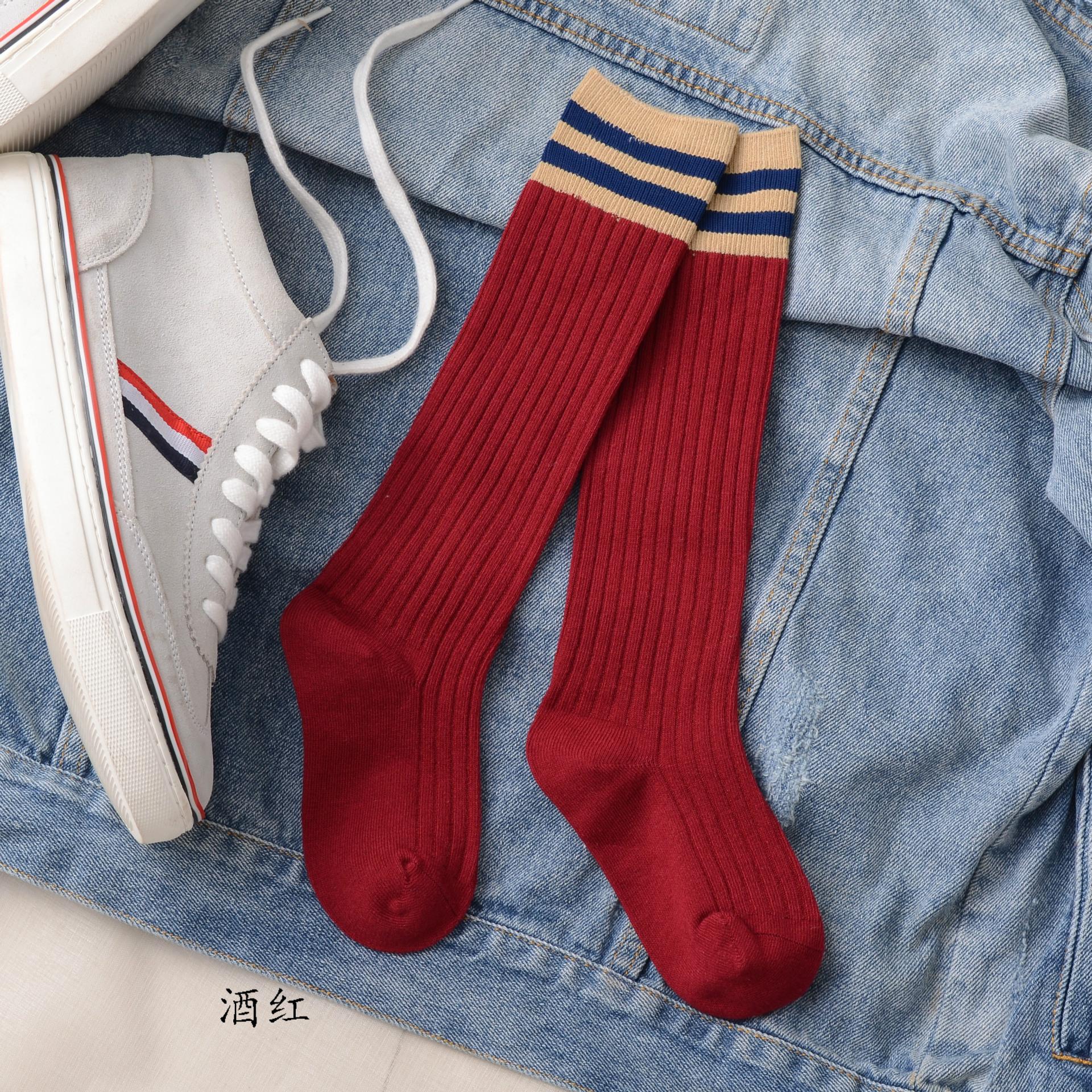 儿童长筒袜男宝宝中高筒袜女童足球袜子长筒袜过膝春夏纯棉薄款