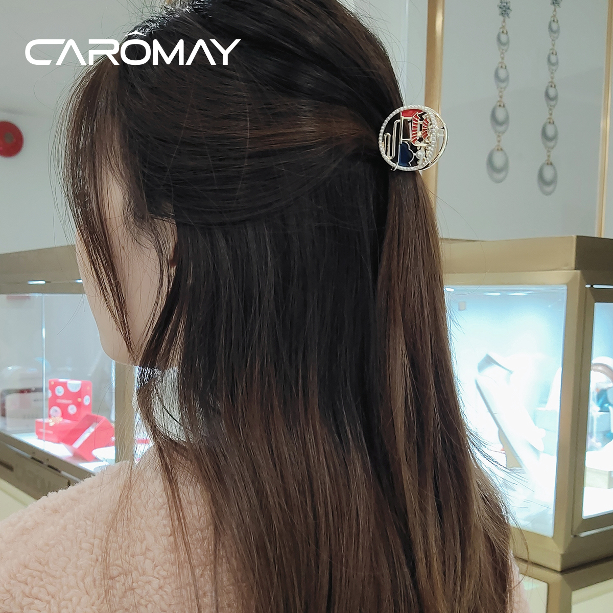 caromay凉亭流苏女宫廷风发夹,30元左右优雅女生礼物