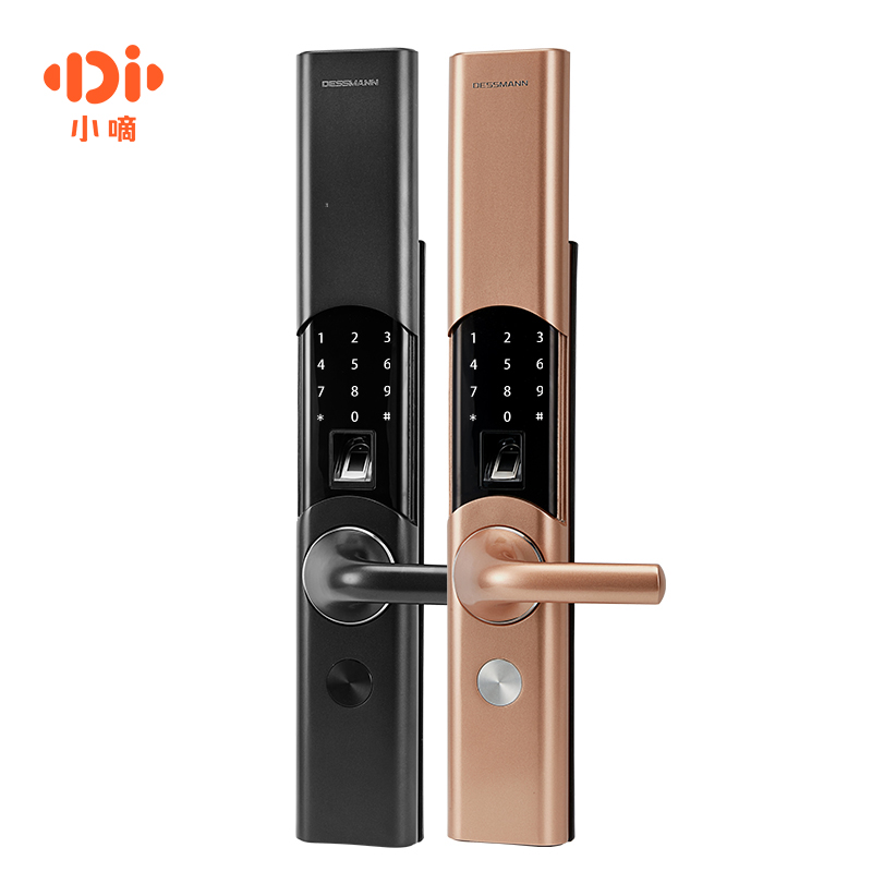 小嘀阿里智能指纹锁家用防盗门密码锁智能锁电子门锁 T86 德施曼