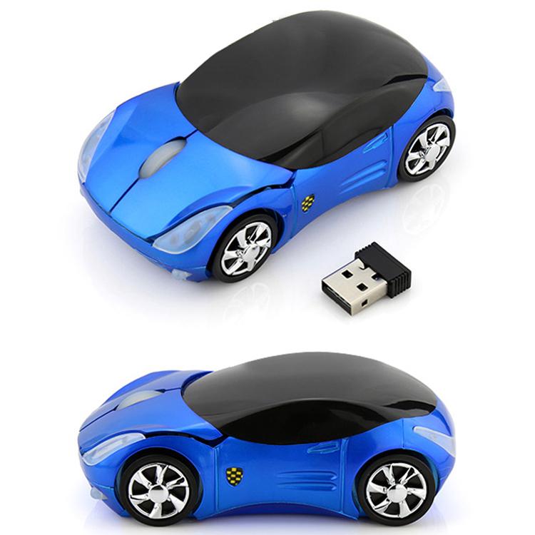 創意新奇法拉利汽車跑車型滑鼠usb無線2.4G可愛時尚禮品送禮包郵