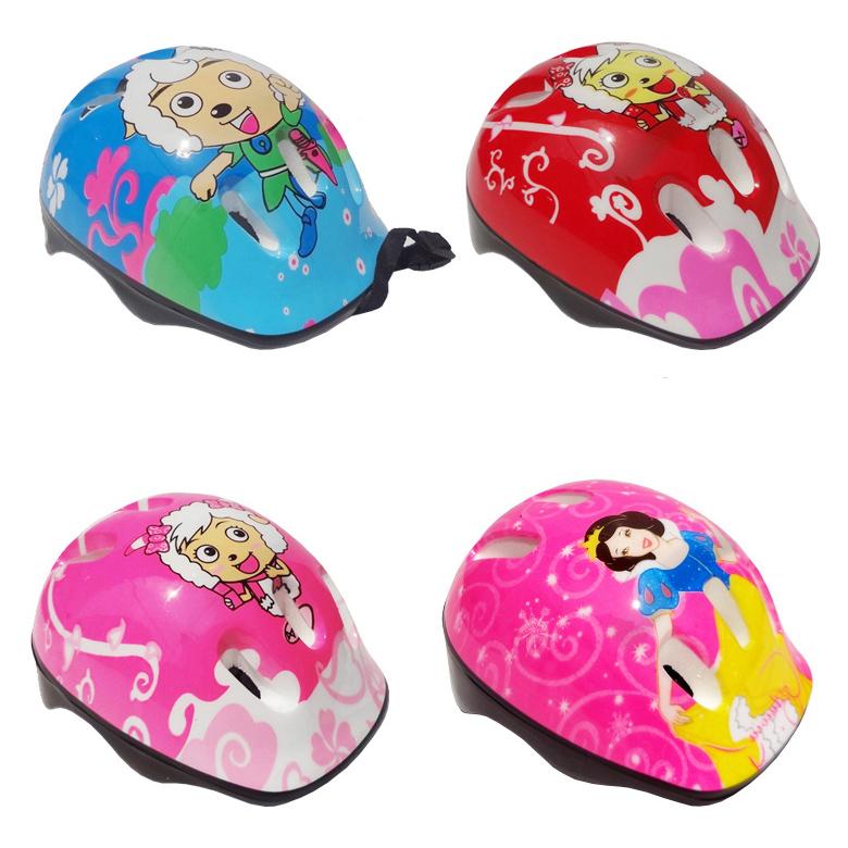 兒童輪滑鞋旱冰安全帽小孩自行車溜冰保護頭盔夏半盔兒童護具頭盔