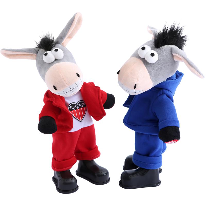 儿童电动摇头驴会说话的学话驴唱歌跳舞学舌小毛驴男女孩毛绒玩具