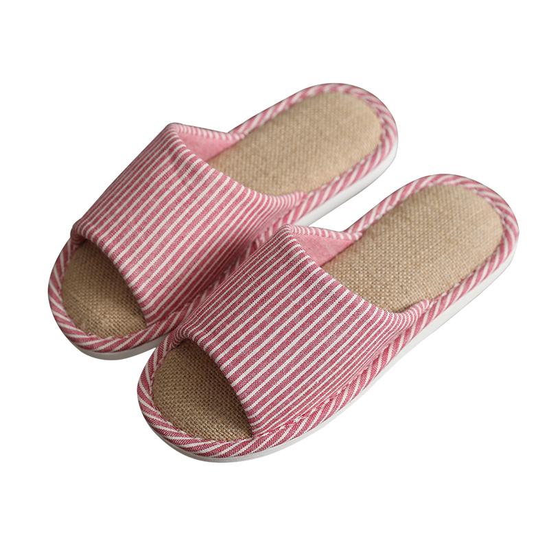 韩国亚麻室内防滑拖鞋 春夏家用软底居家鞋男 情侣家居地板托鞋女
