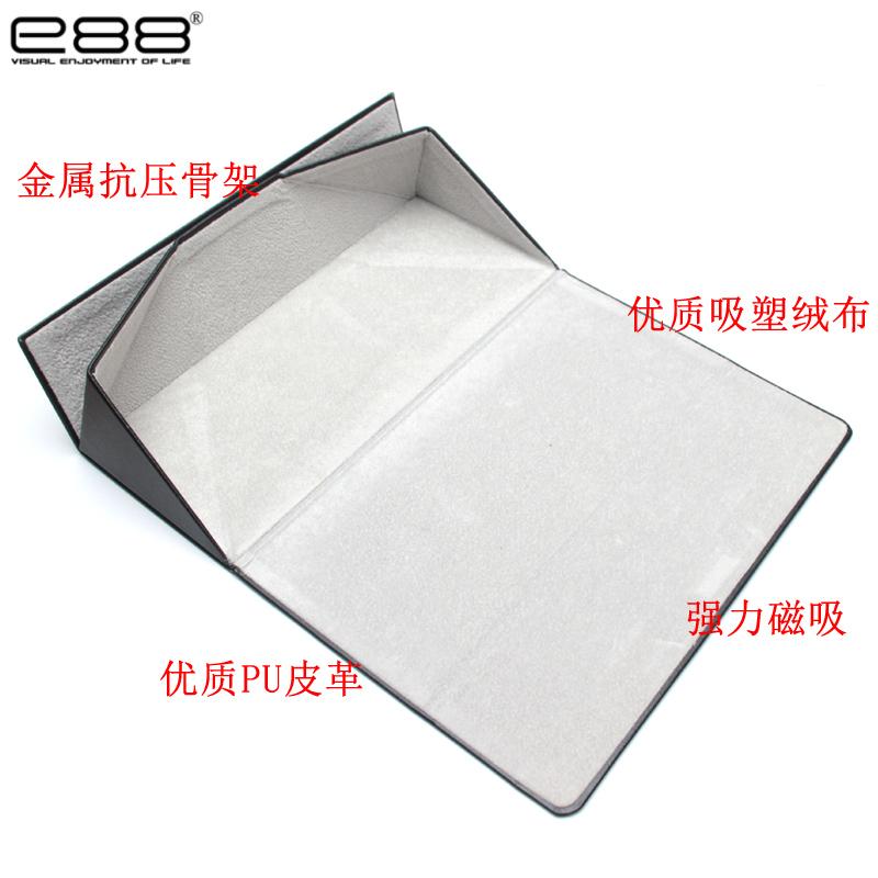 e88三角折叠眼镜盒便携式ins复古文艺眼睛盒创意时尚男女收纳盒子