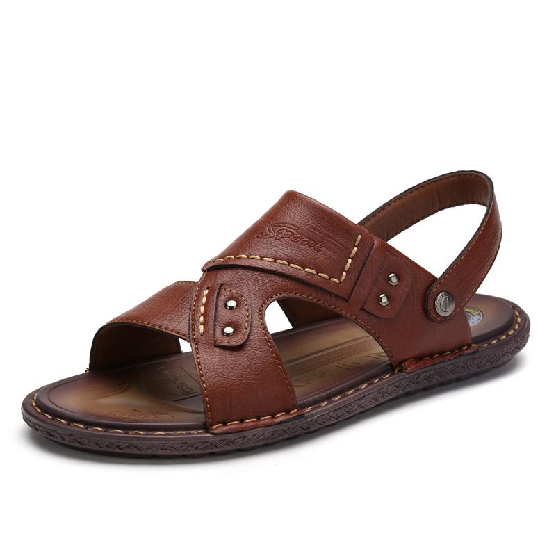 男凉鞋2019夏季新款男士凉鞋休闲凉拖鞋防滑透气沙滩鞋潮中年爸爸