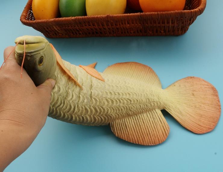 仿真鱼模型假鲤鱼模型酒店卖场装饰品仿真龙虾螃蟹模型假鱼摆设件