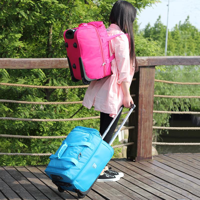 王子坊大容量可扩展旅行箱拉杆箱防水可折叠旅行箱行李登机箱包女