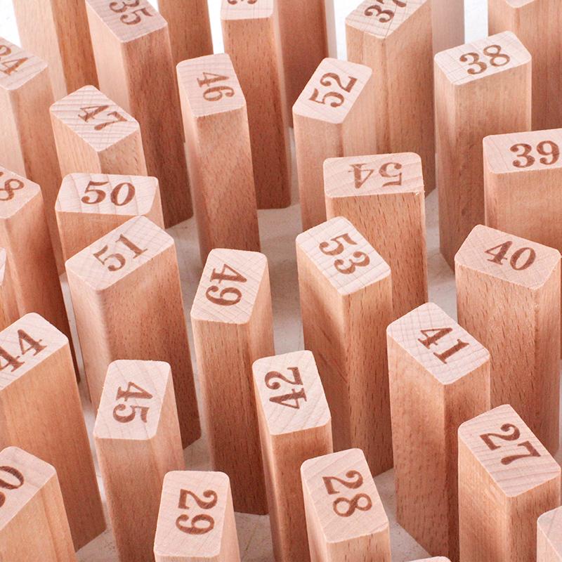 数字叠叠高积木成人抽抽乐层层抽木条儿童智力玩具叠叠乐亲子桌游