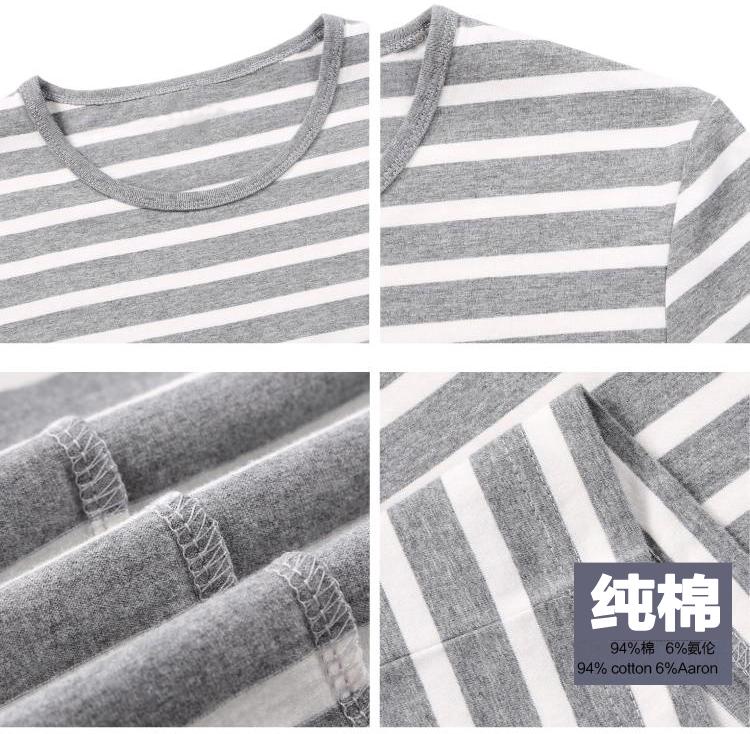 情侣亲子相间条纹短袖面料 纯棉海洋风经典色织百搭简约短袖T恤布