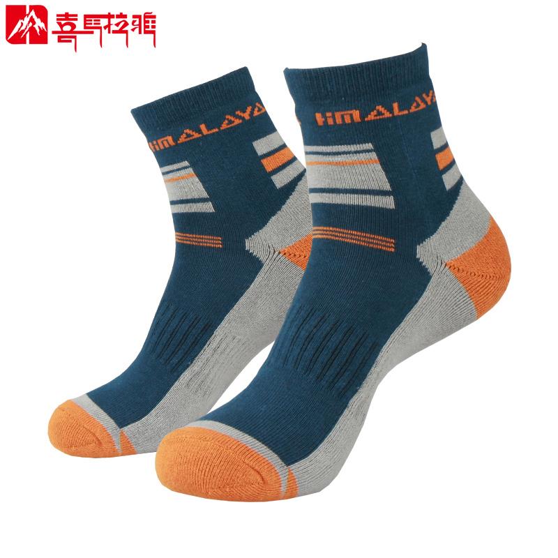 喜馬拉雅男士運動襪 女中筒夏季跑步coolmax戶外襪子登山襪徒步襪
