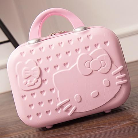 廠家直批韓版14寸化妝箱女士手提箱結婚箱子小行李箱20寸登機箱包
