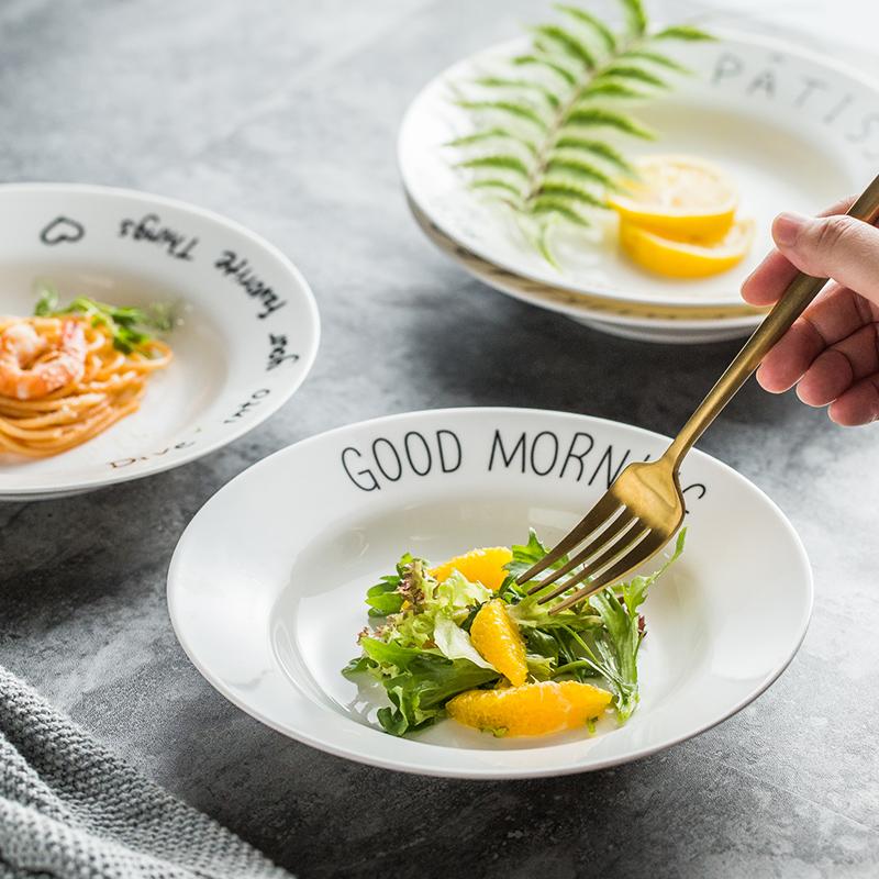 Creative North European Ceramic breakfast Western fruit deep plate