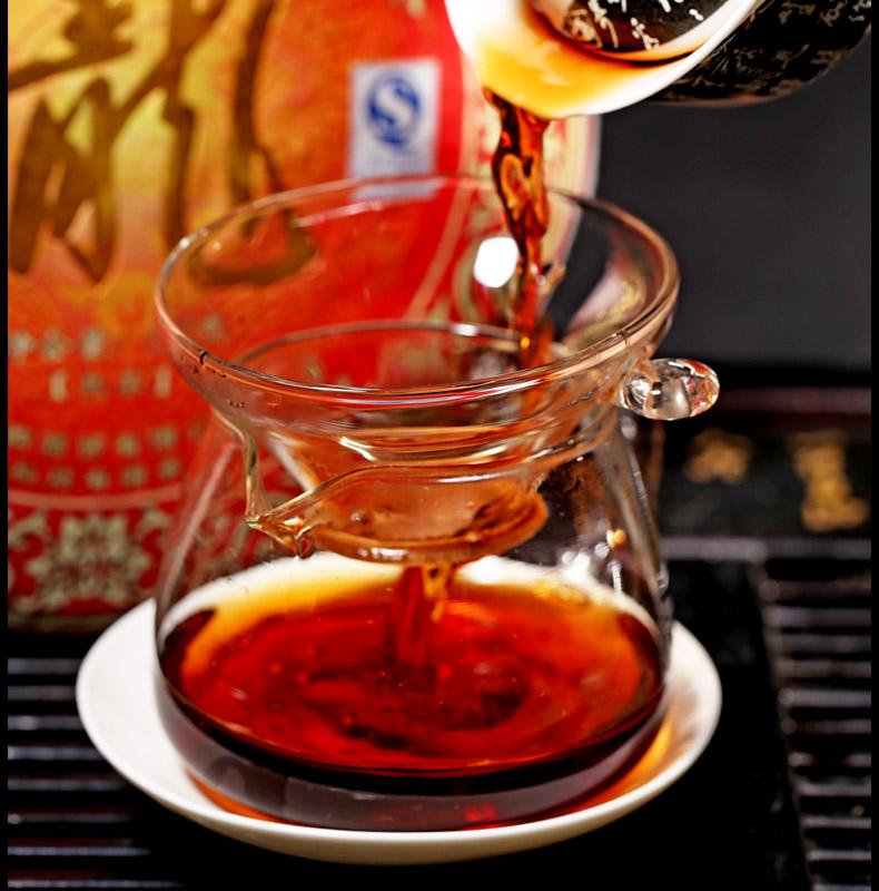 龙饼普洱茶熟茶叶六年陈普洱茶 壬辰龙年 2012 新益号 2499g 片整提 7