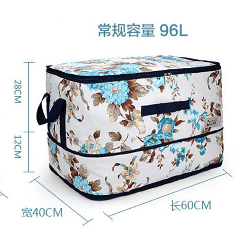 帆布裝被子的袋子超大容量創意可伸縮毛毯衣物整理搬家打包收納袋