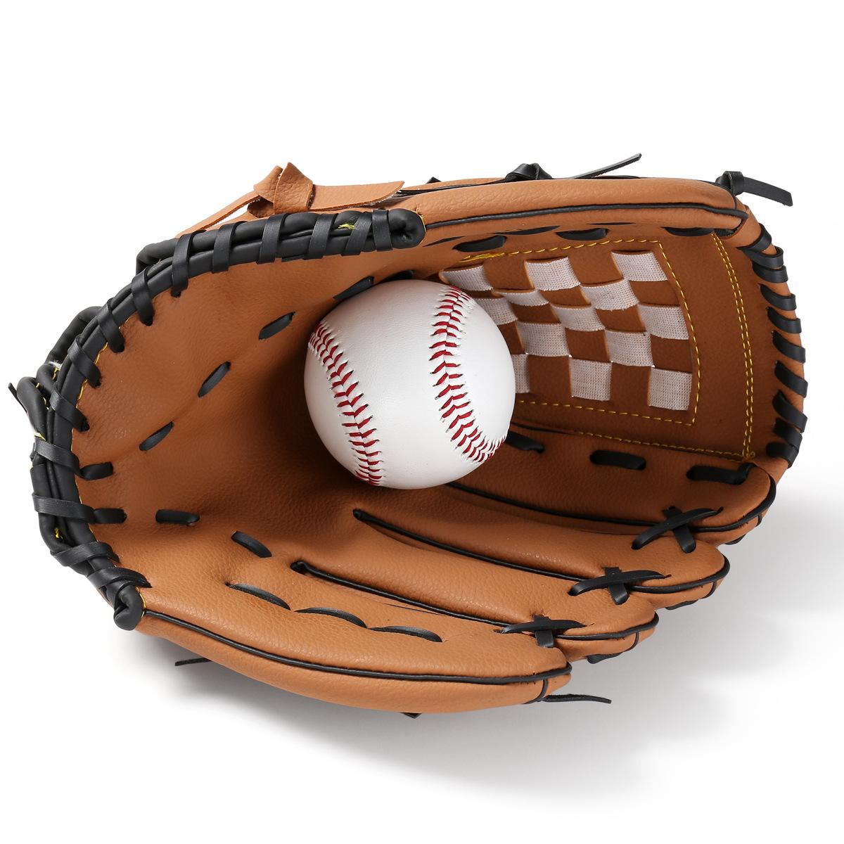 正品 加厚 內野投手棒球手套 壘球手套 兒童少年成人全款包郵