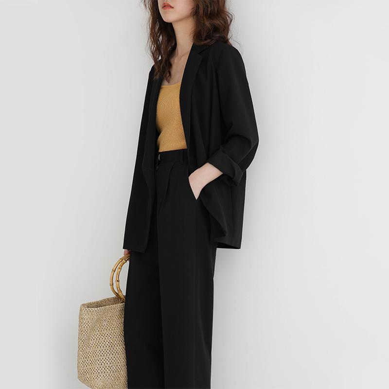 5siss西装外套女韩版英伦风秋装上衣复古气质休闲宽松chic小西服