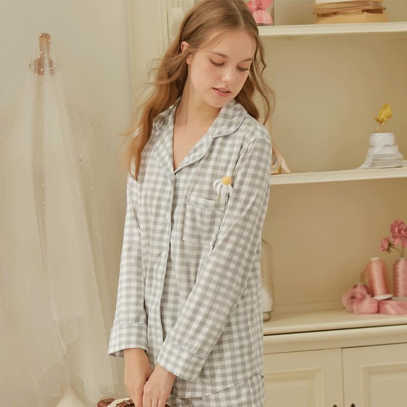 HRL17062 歌瑞尔时尚休闲长袖睡衣可外穿家居服打底衣套装