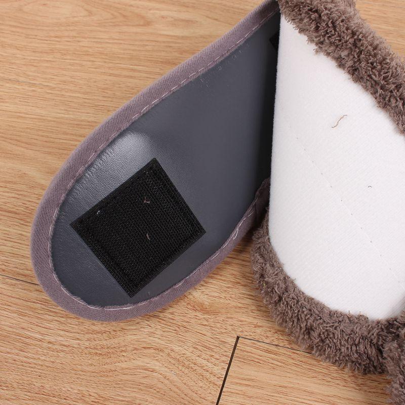 秋冬加厚露趾柔软懒人擦地拖鞋可拆洗清洁擦地板拖鞋室内防滑拖鞋