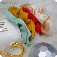新年礼物真丝伴手礼SANGLUO桑罗春夏桑蚕丝绸纯色发圈发箍发饰女 (¥59)