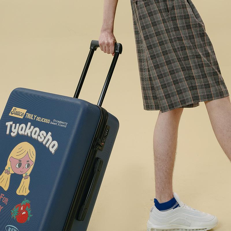 寸 28 寸 24 寸 20 ASQN78 塔卡沙神奇酱系列蓝色印花行李箱 TYAKASHA