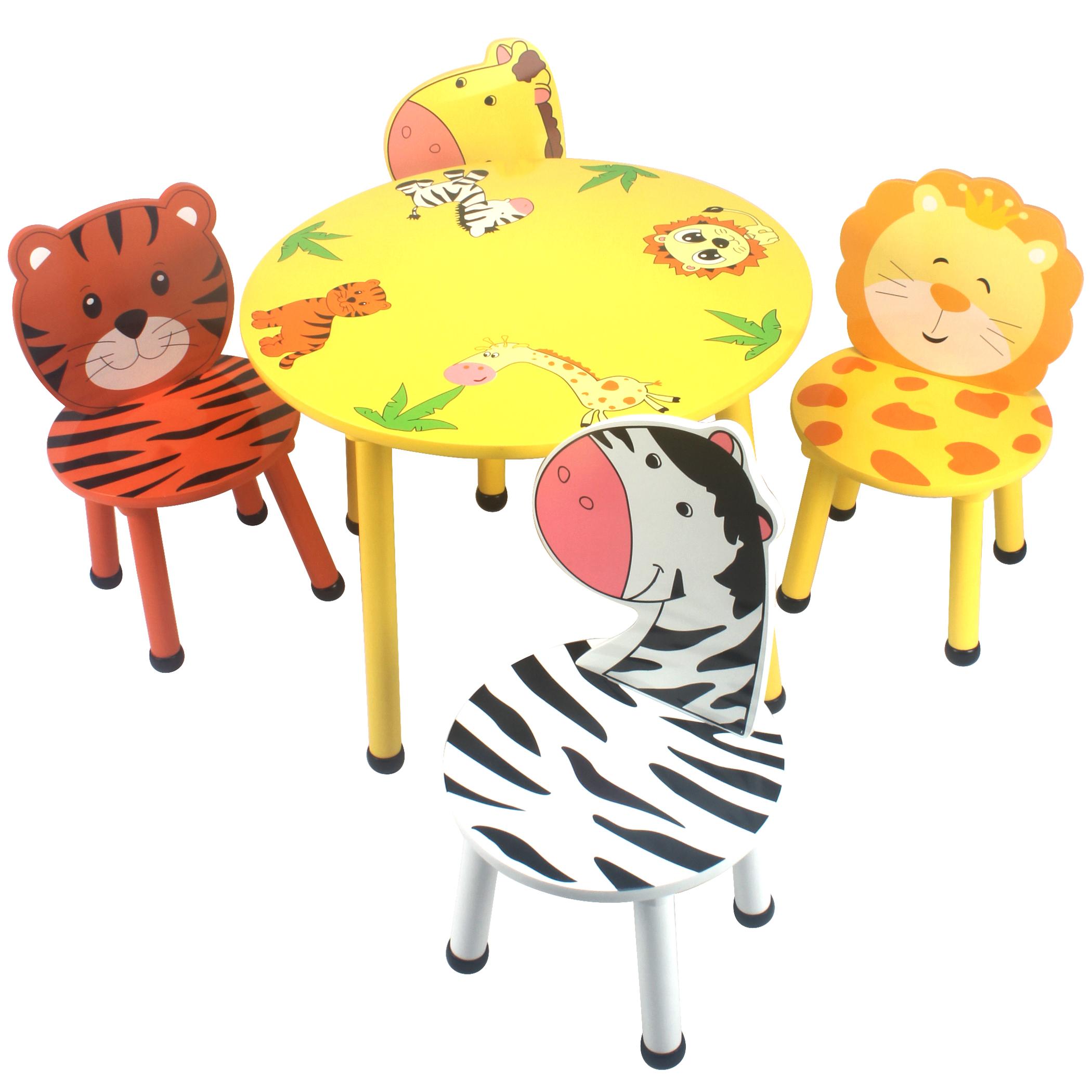 儿童卡通实木桌椅宝宝吃饭桌幼儿学习桌椅画画游戏桌椅可爱桌套装