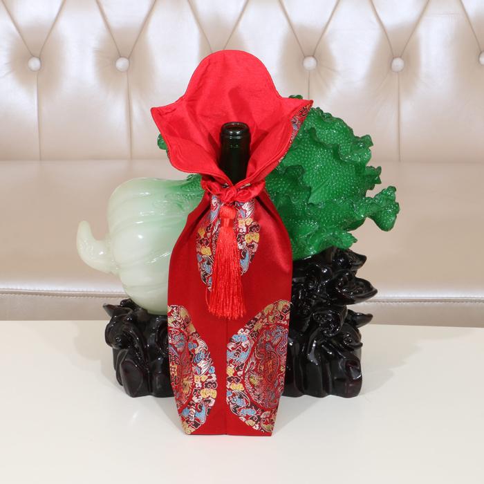 中式古典酒瓶套/欧式葡萄酒瓶套 防尘套工艺品装饰品家居结婚礼品