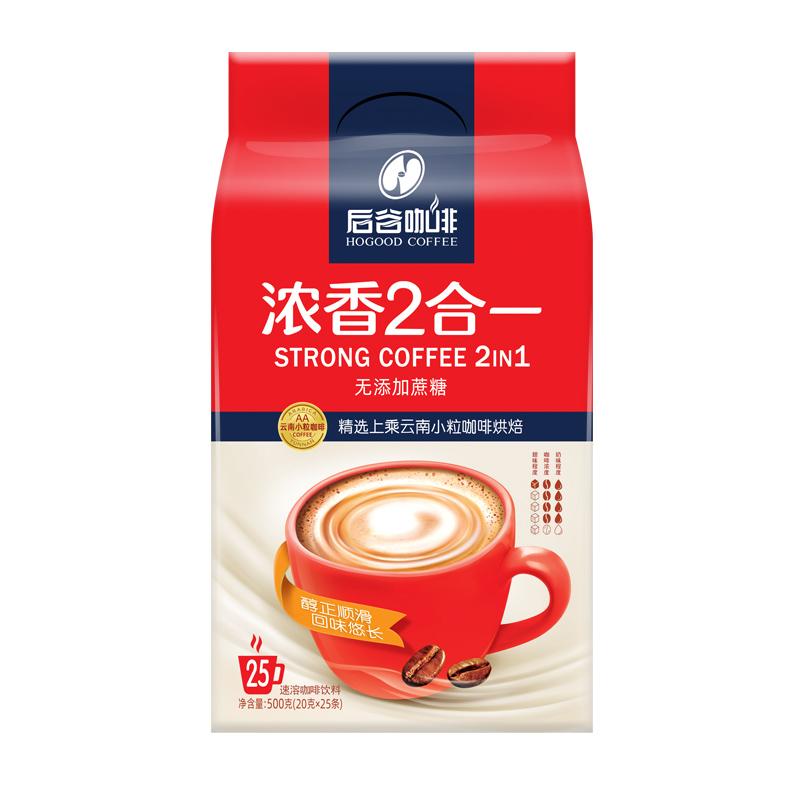 后谷咖啡浓香2合一无蔗糖咖啡粉