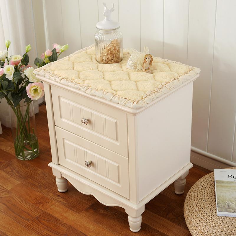 床头柜盖布小方巾简约欧式卧室床头柜桌布罩布艺茶几桌布防尘