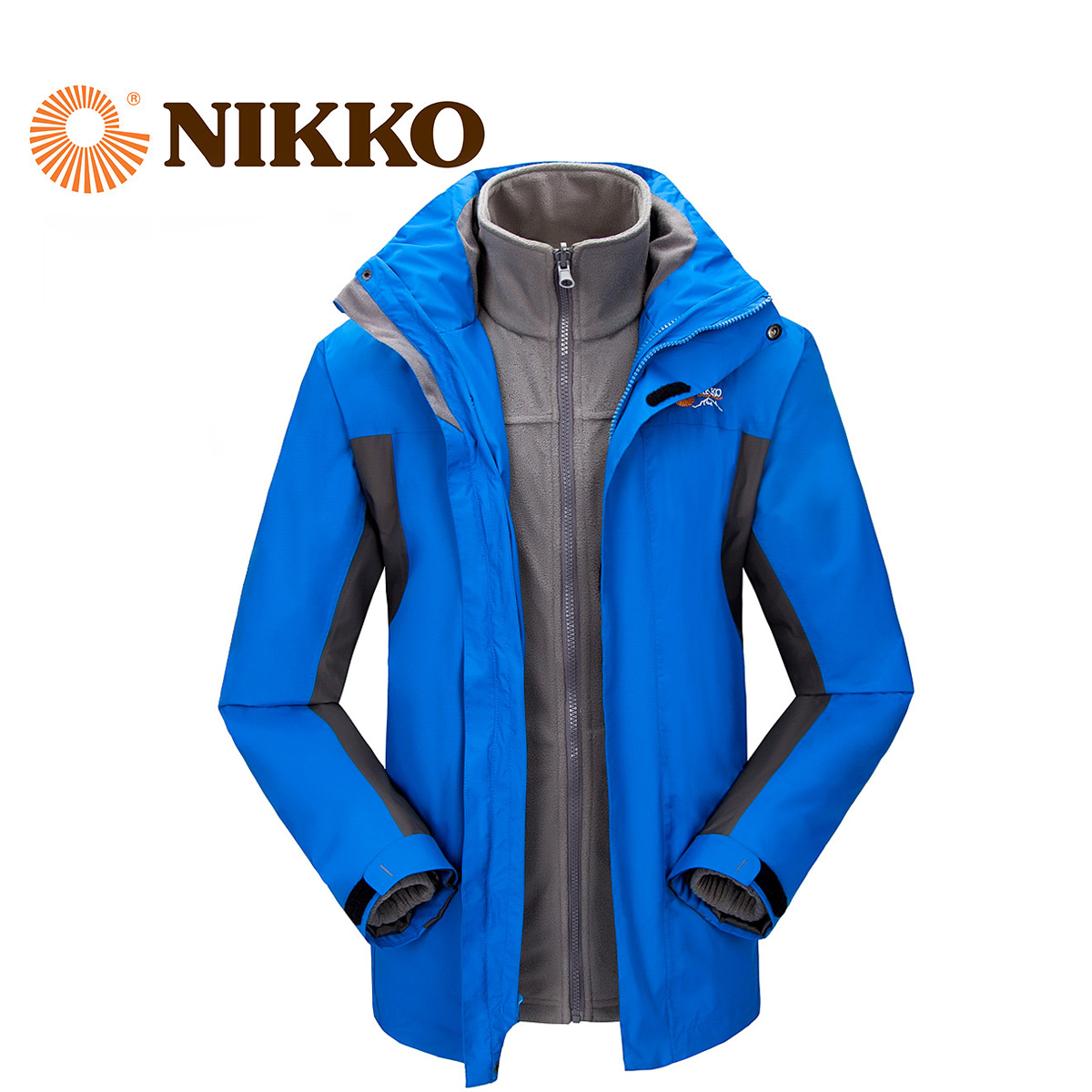 Nikko日高 戶外防水衝鋒衣兩件套透氣衝鋒衣男式秋冬外套NJB15001