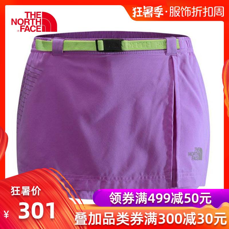 THE NORTH FACE/北面女款戶外運動輕質舒適防潑水跑步短裙褲CE2E