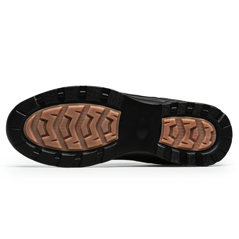 春秋季男士旅游鞋皮面防水夏季黑色运动鞋男休闲鞋透气中年男鞋45