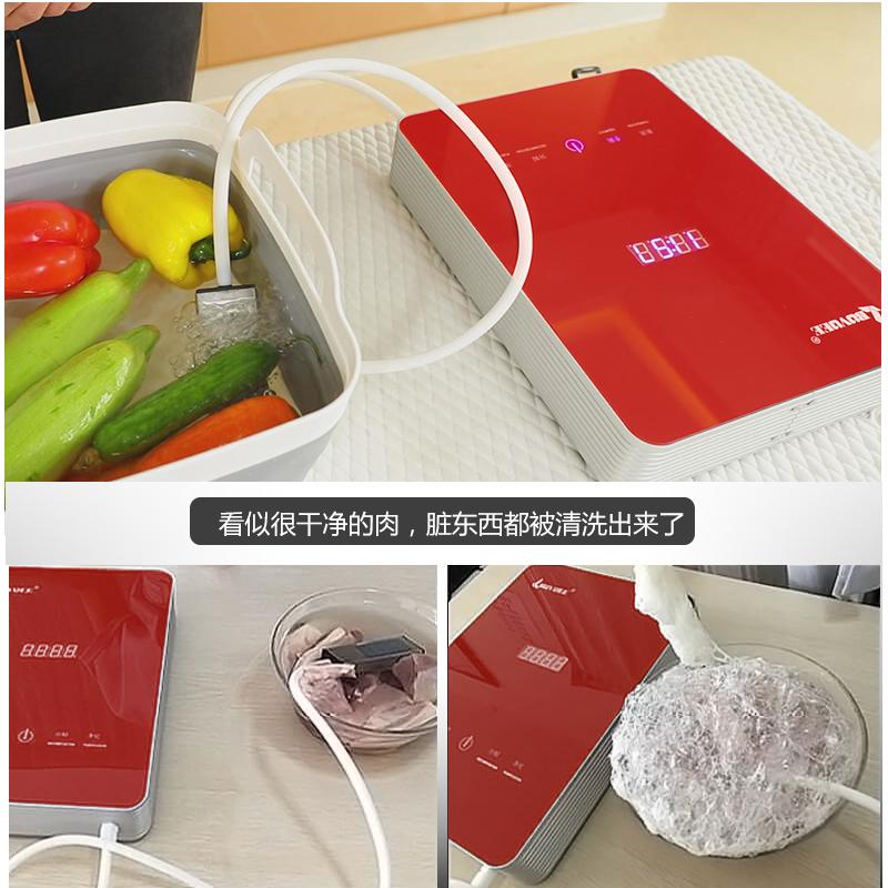 百易洗菜机家用全自动水果蔬菜清洗机果蔬消毒解毒机空气净化机R8