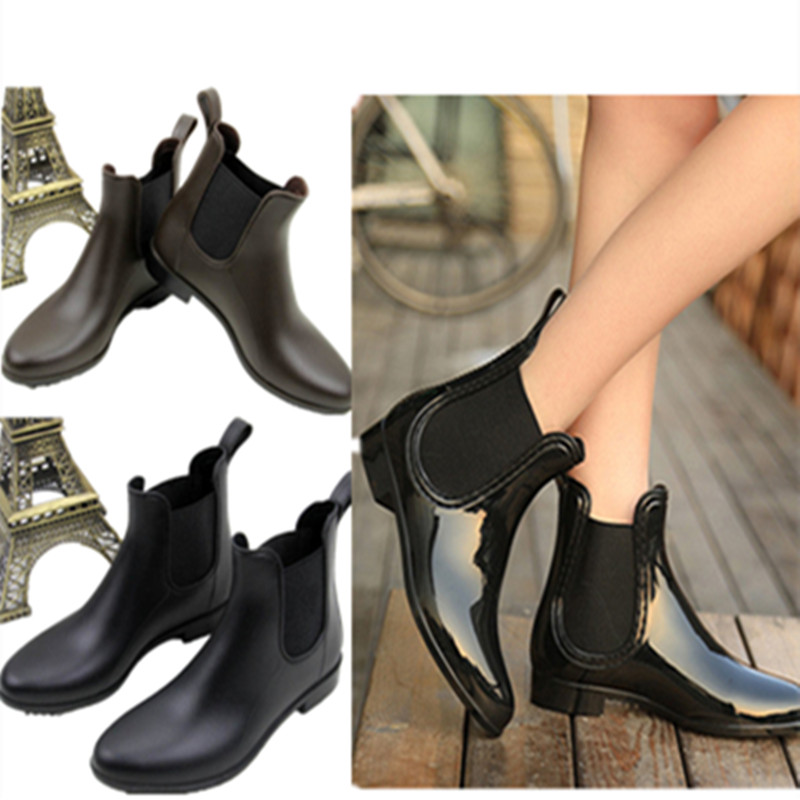 時尚雨鞋女士出口日本成人雨靴防滑輕便短筒低幫水靴單鞋水鞋套鞋