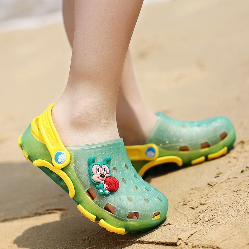 拖鞋儿童洞洞鞋男童沙滩鞋夏季女童凉鞋大童鞋宝宝浴室凉拖鞋防滑