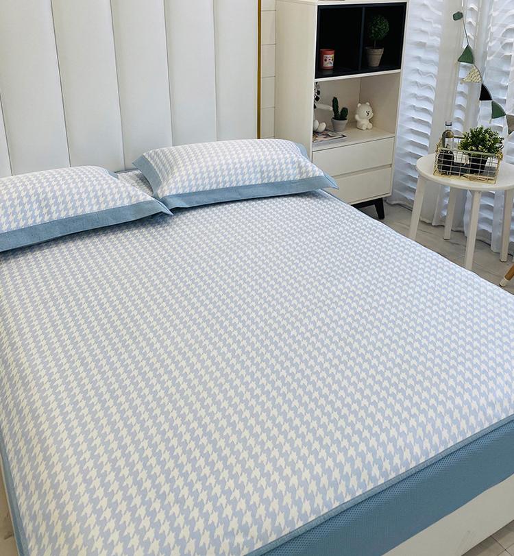 冰丝凉席三件套床笠款 1.8m床1.5米夏季空调软凉席子可水