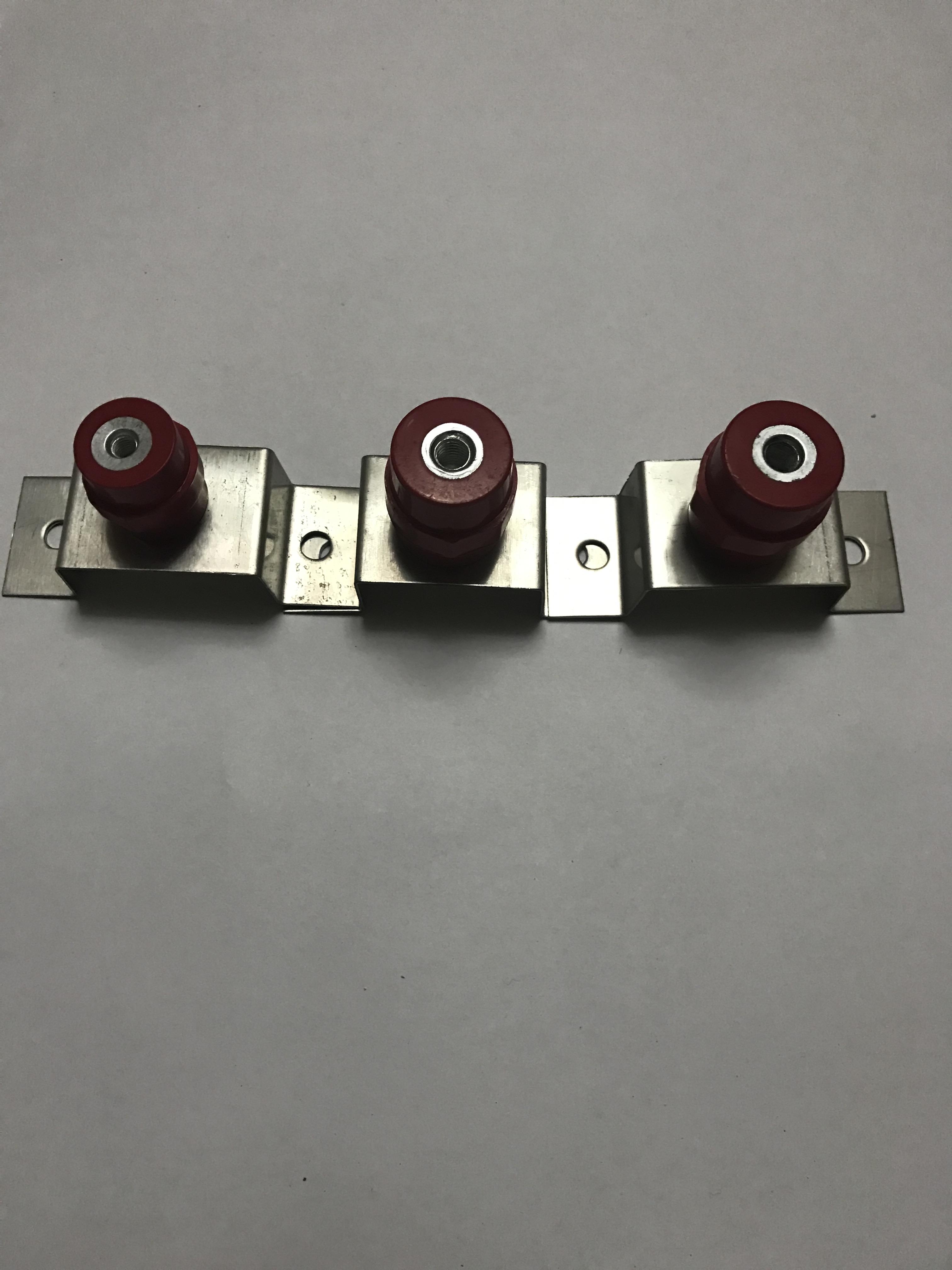 T2铜排不锈钢支架 等电位接地铜排支架 机房接地铜排支架