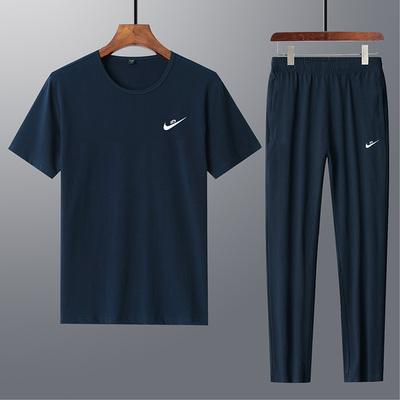 潮牌丅恤 情侣款两件套短袖搭配短裤运动套装男女款休闲运动服