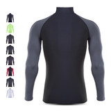 Gym sports tights men's running training fast-drying basketball bottom T-shirt high-necked long-sleeved top