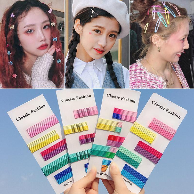 韩国风同款珍珠发夹少女卡子泫雅边夹一字彩色网红发卡小夹子头饰