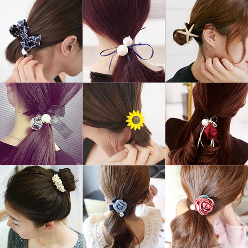 韩国饰品发圈头绳发带扎头发橡皮筋女头花蝴蝶结头饰发夹发绳发卡